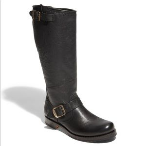 Frye Veronica Slouch Black Knee High Leather Boots